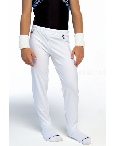 Pants with stirrups - white